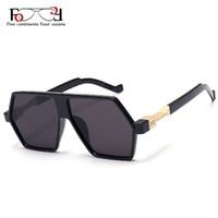 b2a8151722848 Atacado-Fashion New Small Retângulo Frame Revestimento homens óculos de sol  de marca designer mulheres