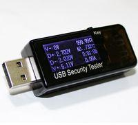 El doctor QC2.0 carga rápida metro Banco de potencia Dispay 3V-30V mini cargador Tensión Corriente mayor-Digital Tester Capacidad USB