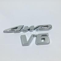 Auto Heckklappe Kofferraum Chrom 3D 4WD V6 Logo Embleml Aufkleber Abzeichen Für Toyota Ford VW Hyundai