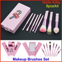 Hot selling 8pcs Makeup Brushes Set Pink Hello kitty Make Up...