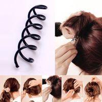 Spirale Spin Vis épingle à cheveux clip Hairpin Twist Barrette Accessoires cheveux noir plaque en MiniUSB B Magic Hair SCROO Bridal Styling 1000pcs