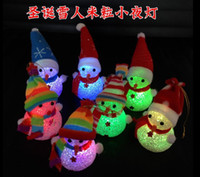 Aydınlık Yılbaşı Kardan Adam Nightlight Nightlight Noel Noel Kardan Adam Nightlight kristal tahıl