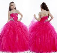 Nouvelle Arrivée 2020 robe de bal rouge Rachel Allan Allan Pageant Robes Simple manches longues Crystal Crystal Girl Pageant Robe Enfants Robe de bal hy1142