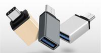 Metal USB 3.1 Tipo C Adaptador OTG Macho a USB 3.0 A Adaptador Convertidor Hembra Función OTG para Macbook Google Chromebook Envío gratis
