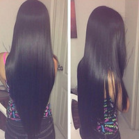 Hot Sexy Long Silky Straight Black Wig Heat Resistant Fiber ...