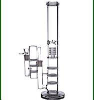 """17 """" высокий большой воды бонги 18 мм ресайклер буровых установок dab барботер тройной сот perc курительные стеклянные трубы чаша золоуловитель 18,8 мм"""
