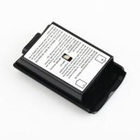 Pil Bölmesi Paketi Kapak Kabuk Kalkanı AA Piller Xbox 360 Kablosuz Denetleyici Konsol Gamepad için Kılıf Kiti Toptan