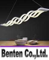 Nuevo diseño de forma de onda 80 W luces colgantes modernas para comedor luz led regulable lámpara creativa colgante lamparas LLFA