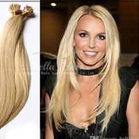 Беллахаир Бразильские волосы Человеческие Необработанные предварительно связанные волосы Увеличение волос U-Tip Blond Extensions, 1G / Strand, 100G / пакет DHL Бесплатная доставка