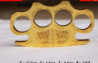 finger tiger GILDED THICK THICK 13mm STEEL BRASS KNUCKLE DUS...