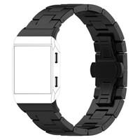 الصلبة الفولاذ المقاوم للصدأ التبعي حزام حزام العصابات المعدنية ل Fitbit أيوني