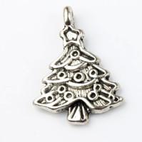 Yıldız Yılbaşı Ağacı Charm Boncuk 100 adet / grup 17.4x24.2mm Tibet Gümüş Kolye Moda Takı DIY Fit Bilezikler Kolye Küpe L743