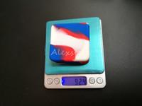 Antihaft-Wachs-Behälter Silikon-Box 33 ml Silikon-Behälter Großes Quadrat Wachsgläser für Lebensmittelqualität Tupfen Dabber-Werkzeug Großglas-Ölhalter für Vape