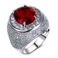 Belo anel com grande champanhe / claro e siam vermelho zircônia cristal colorido cz jóias luxo anel de dedo feminino