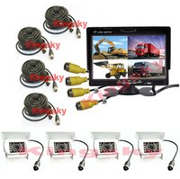 "4x 4Pin 18 LED Rear View Reversing white Camera 7"" LCD ..."