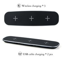 3 in 1 Wireless Qi Fast Charger For 3 cellphone + 2 USB Char...
