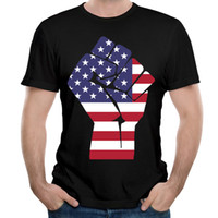 Camicie a maniche corte uniche O-collo Original Fist of Flag Dressing tees discount cheap merita camicie