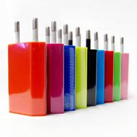 высокое качество дешевые красочные прямые зарядные устройства универсальный сотовый телефон зарядные устройства для США ЕС подключите адаптер переменного тока зарядное устройство Зарядное устройство стены