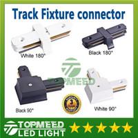 Conector do trilho da luz da trilha do diodo emissor de luz de Epacket para suportes de iluminação comerciais horizontais do ângulo direito dos fios Acessórios de alumínio