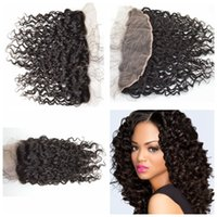 G- EASY Mongolian Curly Lace Closure Natural 1B for black wom...