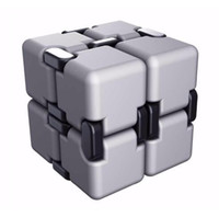 2017 80x40x20mm infinito giocattolo quadrato di lusso EDC Infinity Cube Mini Stress Silver Fidget Anti Ansia Toys Toys Funny Novelty Bambini di Natale regalo