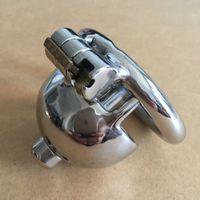 Super petit dispositif de chasteté mâle 40mm adulte cage de coq avec cathéter de sondage urétral amovible BDSM jouets sexuels pour hommes serrure de pénis