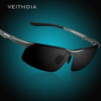 VEITHDIA óculos de Sol de Alumínio Dos Homens de Magnésio Polarizada Espelho de Visão Noturna Óculos Masculinos Óculos De Sol Óculos De Proteção Para Oculos Para Homens 6502