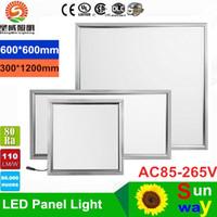 Потолочные светильники 36W 48W 54W светодиодные панели света потолочного света 600x600 300 * 1200 120 градусов теплый прохладный белый светодиодный свет 85-265V