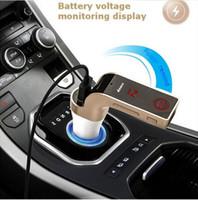 4in1 Eller Serbest Kablosuz Bluetooth FM Verici Modülatör Araç Kiti MP3 Çalar AUX SD USB LCD Araba Müzik Çalar G7 ücretsiz shiping