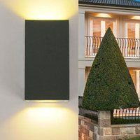 4 pçs / lote super brilhante IP54 6 W LEVOU Jardim Ao Ar Livre Up Down Luz de Parede Lâmpada Quintal Corredor Villas Parques de iluminação Moderna de alta qualidade