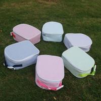 Sap gofre kumaş Çanta Öğle Tote Çanta Toptan Boşluklar Soğutucu Çanta İzoleli Gıda Taşıyıcılar In Altı Farklı Güzel Renk DOM106344