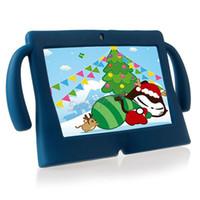 Freies verschiffen dhl kinder weiche silikonkautschukgel groß nette ohren tablet pc case für 7 zoll Q88 Anti-Staub-Tropfenresistente Schutzabdeckung