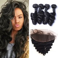 Lace Frontal Closure Bundles 5pcs Lot Brazilian Virgin Hair ...