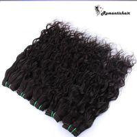 Acqua Brasiliana Human Head Wave 3 Bundles Bagnato e ondulato Human Human Human Human Human Hair Weave Brazillian Curly Weave Extensions Extensions Deals