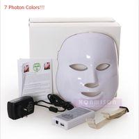 7 Lichter LED Gesichtsmaske Hautverjüngung PDT Photon Maske für Akne-Behandlung Faltenentfernung Schönheit Maske DHL geben Verschiffen frei
