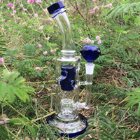 Heady Fab egg rig Glass bong water pipe 10 inch bent Blue co...