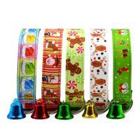 هالوين عيد الميلاد جرو طوق الحيوانات الأليفة BOWKNOT قابل للتعديل جرس قلادة مشبك حزام الرئيسية منتجات الحيوانات الأليفة رئيس الياقات