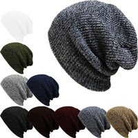 Hot Winter Beanies Solid Color Hats Unisex Plain Warm Soft B...