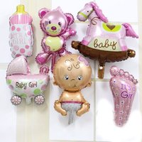 50pcs lot mini balloon baby shower party foil baby boy girl ...