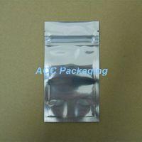Vente en gros 7 * 13 cm Sacs d'aluminium en aluminium clair Vanve refermable Zipper Plastique Plastique Packaging Sacs Sacs de stockage Sacs de rangement