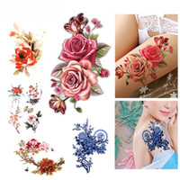 Flower Bird Decal Fake Women Men DIY Hennè Body Art Tattoo Design Farfalla Tree Branch Vivid Temporary Tattoo Sticker