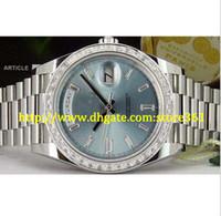 store361 new arrive reloj PLATINUM 40 PRESIDENT Glacier Diamond 228396