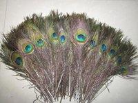 200 pcs / lote, comprimento: 25-30 cm, bela pena de pavão natural!