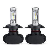 1SSet S1 H4 H7 H11 9005 9006 Bil LED-strålkastare framlök 6500K 8000LM doppad Hi-Lo Beam Car Headlamps 12V 24V DRL 50W / set