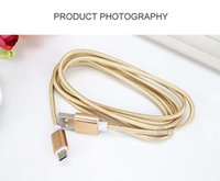 2017 Metal Housing Braided 5 colors type c cable 1M 2M micro...