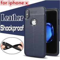 Weicher TPU Silikon-Geschäftstelefon Fall Litchi Muster-Leder-Schutz-Abdeckung für iphone X XS MAX XR 8 6 7 plus Samsung S9 S8 Plus