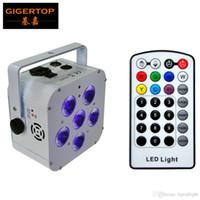 최고 품질 WirelessIRC 파 캔으로 배터리 6 × 18W 6in1 주도 Uplights RGBWA + UV 높은 밝은 이벤트 워시 Uplighting + IR 제어 90V-240V