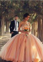 2017 우아한 푹신한 웨딩 드레스 공 가운 진주 파란색 민소매 organza Strapless Garden Bridal 가운 인도 Vestido