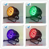 4 pz / lotto Zoom Par Can 64 Light IP65 18 * 18W 6in1 RGBWA UV DMX LED Par Impermeabile Uso all'aperto Stage