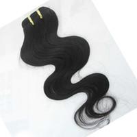 Gleiche Qualität 10pcs / lot Großhandel Bündel Günstige verarbeitet indische Körperwelle Haarverlängerungen versendet schnell